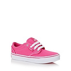 Vans - Girl's pink classic canvas trainers