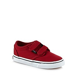 Vans - Boy's red two tab canvas trainers