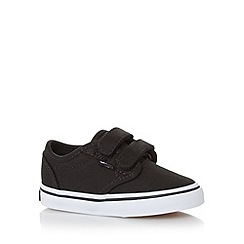 Vans - Boy's black two tab canvas trainers