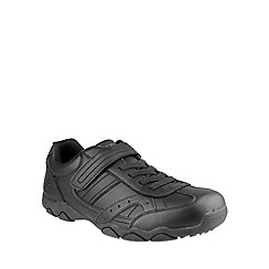 Skechers - Boy's black schelling school shoes