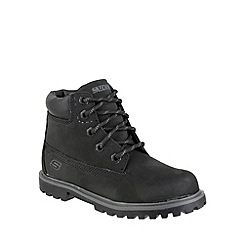 Skechers - Boy's black 'Mecca Bunkhouse' lace up boots