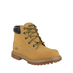 Skechers - Boy's tan 'Mecca Bunkhouse' lace up boots