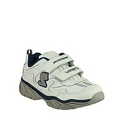 Skechers - Boy's white 'Ragged Dox' double strap shoes