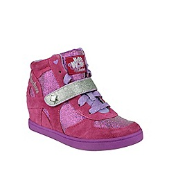 Skechers - Girl's pink 'Hydee Plus 2' panel boots