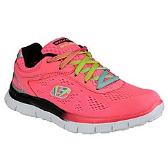 Skechers - Girl's neon pink 'Skech Appeal Whimzies' trainers