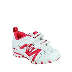Skechers - Girl's white bikers main squeeze trainers