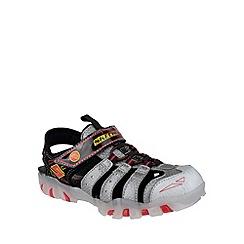 Skechers - Boy's silver 'Street Lightz' sandal trainers