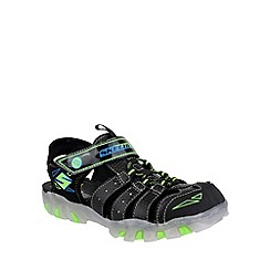 Skechers - Boy's black 'Street Lightz' sandal trainers