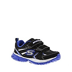 Skechers - Boy's black 'Speedes Burn Outs' rip tape trainers