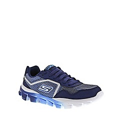 Skechers - Boy's navy 'GORun Ride Supreme' lace up traienrs