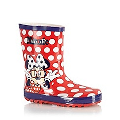 Minnie Mouse - Girl's red 'Minnie Mouse' wellies