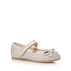 bluezoo - Girl's silver glitter pumps