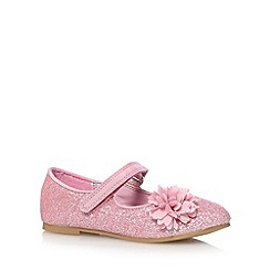 bluezoo - Girl's pink corsage detail glitter pumps