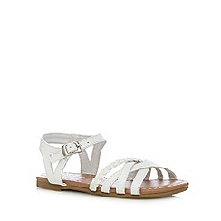bluezoo - Girl's white plaited sandals
