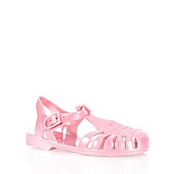 bluezoo - Girl's pink cage strap jelly sandals