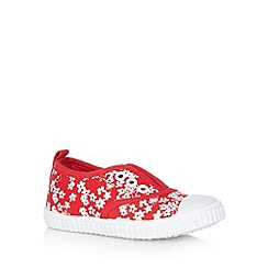 bluezoo - Girl's red flower shoes
