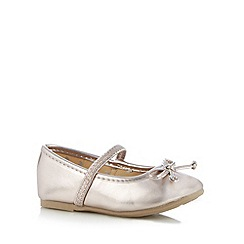 bluezoo - Girl's metallic patent bow shoes