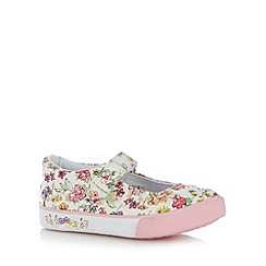 bluezoo - Girl's pink blossom print pumps