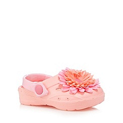 bluezoo - Girl's pink flower applique clogs