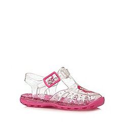 bluezoo - Girl's pink 'Little Mermaid' jelly sandals