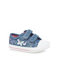 bluezoo - Girl's blue butterfly tab shoes