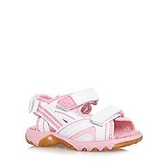 bluezoo - Girl's white triple strap sandals