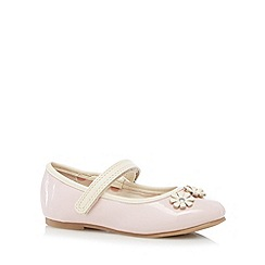 bluezoo - Girl's pale pink floral patent pumps