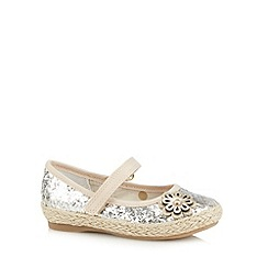bluezoo - Girl's gold glittery flower detail pumps