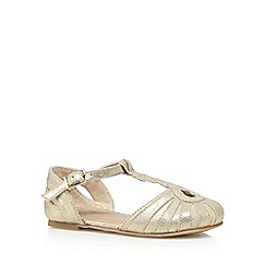 bluezoo - Girl's gold cage knot party sandals