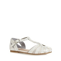 bluezoo - Girl's silver cage knot party shoes