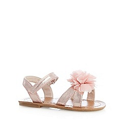 bluezoo - Girl's pink 3D corsage sandals
