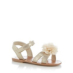 bluezoo - Girl's gold 3D corsage sandals