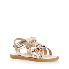 bluezoo - Girl's light gold flower strap sandals