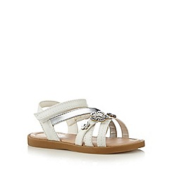 bluezoo - Girl's white flower strap sandals