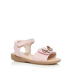 bluezoo - Girl's pink floral butterfly rip tape sandals