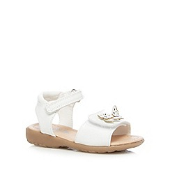 bluezoo - Girl's white floral butterfly rip tape sandals