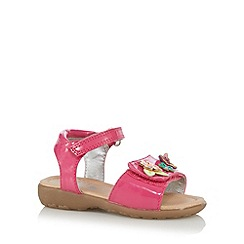 bluezoo - Girl's pink floral applique sandals