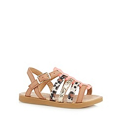 bluezoo - Girl's tan fisherman sandals