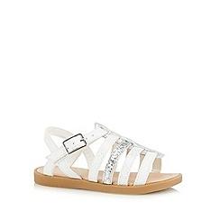 bluezoo - Girl's white fisherman sandals