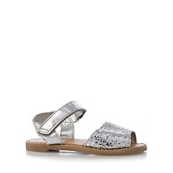 bluezoo - Girl's silver sequin rip tape sandals