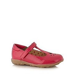 bluezoo - Girl's pink cut out patent shoes