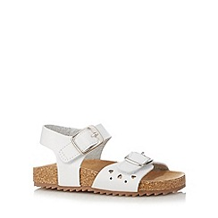 bluezoo - Girl's white buckled strap sandals