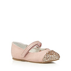 bluezoo - Girl's pink sparkle toe pumps