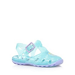 bluezoo - Girls light blue 'Frozen' jelly shoes