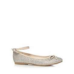 bluezoo - Girl's silver glitter pumps