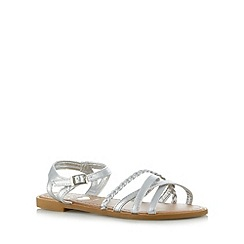 bluezoo - Girl's silver plaited sandals