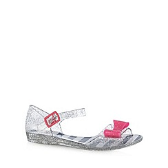 bluezoo - Girl's silver glitter bow sandals