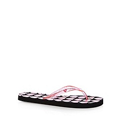Pineapple - Girl's pink heart printed flip flops