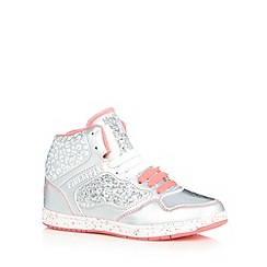 Pineapple - Girl's silver glitter trainers