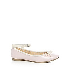 bluezoo - Girls pale pink ballet pump shoes